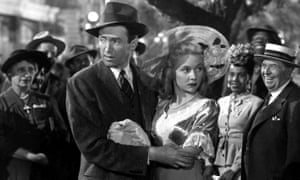 Precise and self-effacing … Grahame with James Stewart in 1946's It's a Wonderful Life.