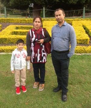 Dr Mahedi Hasan Bhuiyan, Rebaka Sultana and their son Adyan.