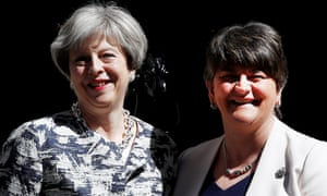 Theresa May with DUP leader Arlene Foster.
