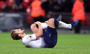 Harry Kane was in obvious pain following Tottenham's loss to Manchester United on Sunday and it has now been confirmed that he will be out until March with ankle ligament damage