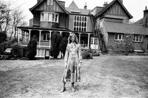 David Bowie at his home, Haddon Hall, at Beckenham, Kent, in 1971