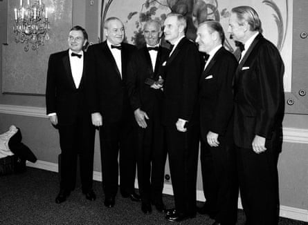 Rockefeller brothers receive gold medals from the National Institute of Social Sciences, in 1967