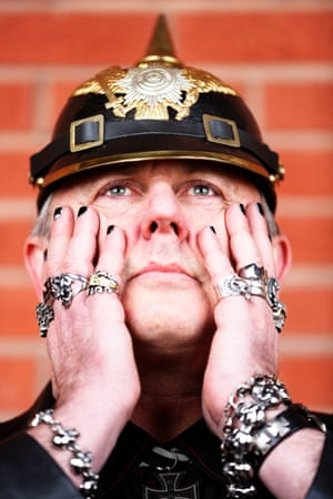 Self styled Zepplin punk Darrin Morgan, from Australia, says he wears his rings for his day job as a senior policy officer in disabilities