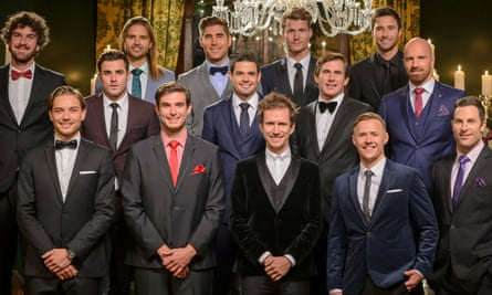 Contestants on The Bachelorette vie for the hand of Sam Frost on the 2015 Australian premiere of the show.