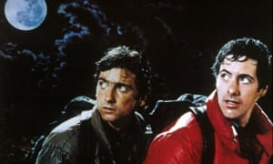 'What the hell was that?' … David Naughton, right, with Griffin Dunne, in An American Werewolf in London, 1981.