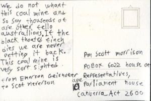 a letter to scott morrison on a postcard