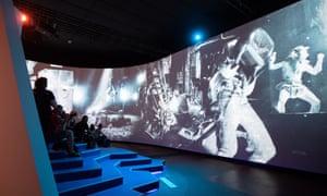 Multimedia display at nineties berlin exhibition