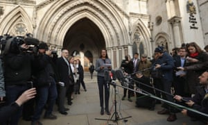 Legal challenger: Gina Miller speaks after the High Court decides that the Prime Minister cannot trigger Brexit without the approval of MPs.