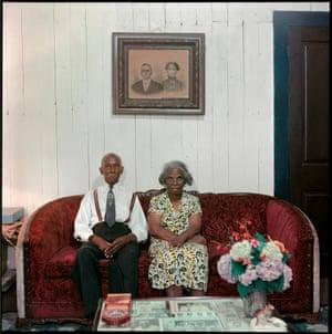 Mr and Mrs Albert Thornton, Mobile, Alabama, 1956 by Gordon Parks.
