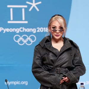 CL also appeared during the Winter Olympic closing ceremony