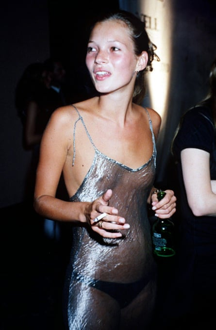 Kate Moss at an Elite model agency party in 1993.