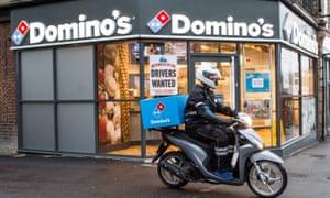 A Domino's delivery rider