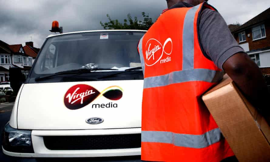 Delivering a new. Virgin Media TV package ... but what about recycling the old?