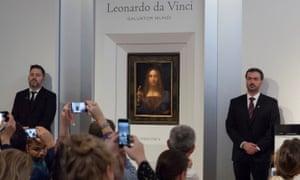 Salvator Mundi is unveiled at Christie's in New York.