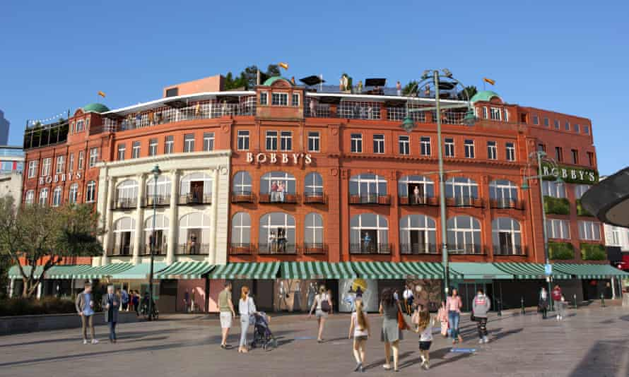 Bobby & Co department store in Bournemouth Square which will reopen as a centre for local businesses