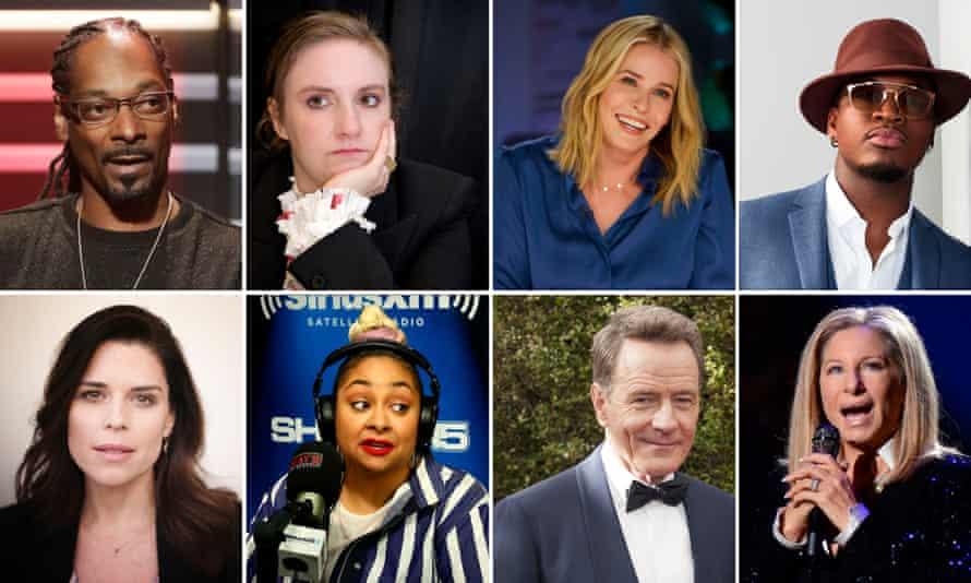 Celebrities not moving to Canada: Snoop Dogg, Lena Dunham, Chelsea Handler, Ne-Yo, Neve Campbell, Raven-Symoné, Bryan Cranston and Barbra Streisand.