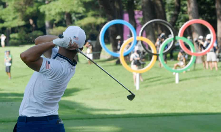 Xander Schauffele in action at Kasumigaseki Country Club during the third round