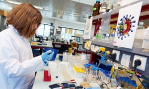 Scientist looking into coronavirus in Lille