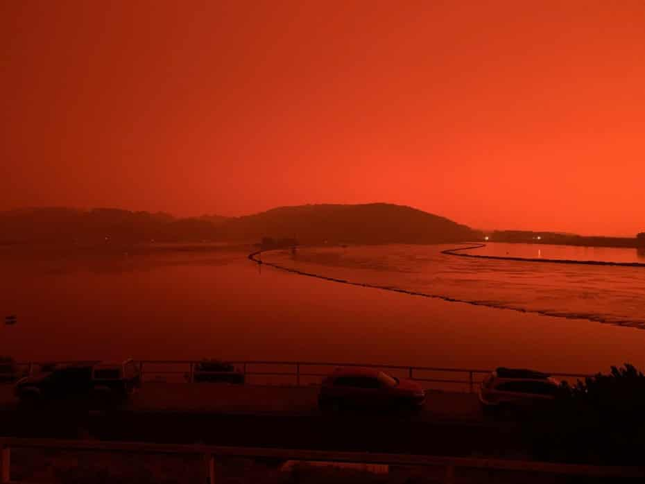 The red sky over Narooma