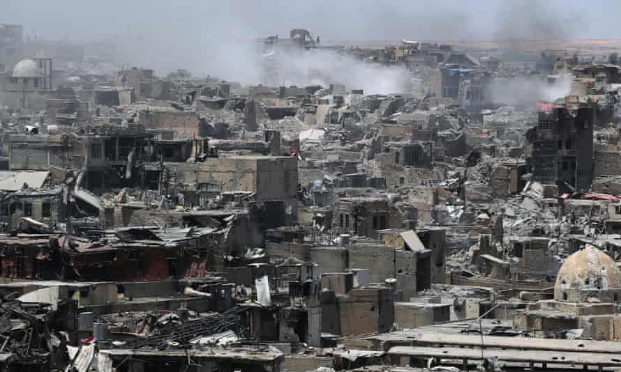 the destroyed old city of Mosul