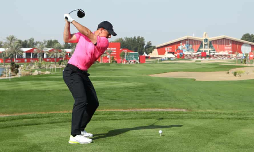 Rory McIlroy plays his tee shot at the 9th hole. 'I felt maybe as sharp as I've ever done coming into the start of the season,' he said.