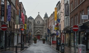 An empty Anne Street in Dublin city centre during the Covid-19 lockdown. The Taoiseach Micheal Martin has just confirmed the extension of Ireland's level 5 restrictions to 5 April. The revised Living with Covid plan includes the gradual reopening of schools and childcare.