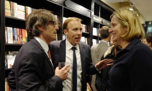 Schmoozing … with Robert Peston and Amber Rudd at Peston's WTF book launch.