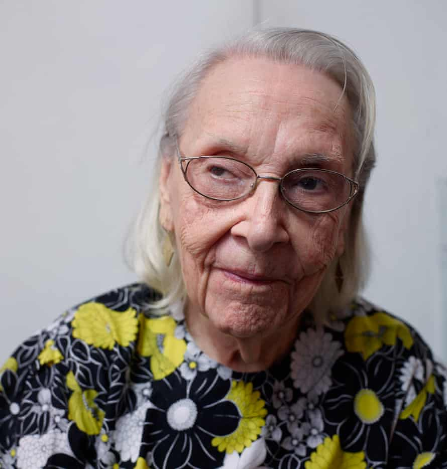 Carmen Herrera in the apartment in New York where she's lived for 49 years.