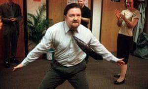 David Brent dances in The Office