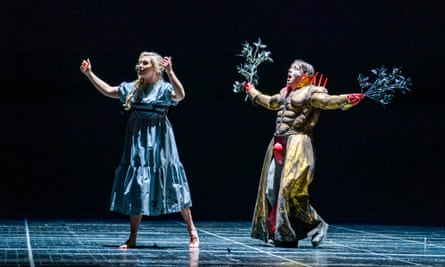 Alexandra Lowe and Jonathan McGovern in Apollo and Daphne.