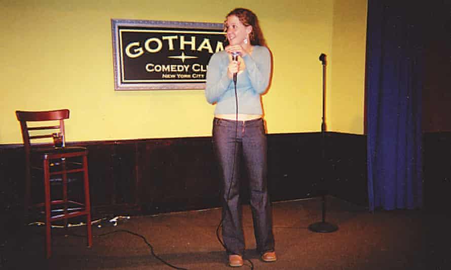 Schumer on stage aged 23.