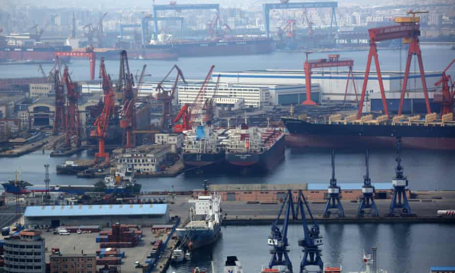 The ship was due to unload 70,000 tonnes of American soya beans in the Chinese port of Dalian.