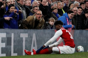 The Chelsea fans share their thoughts with Arsenal's Ainsley Maitland-Niles.