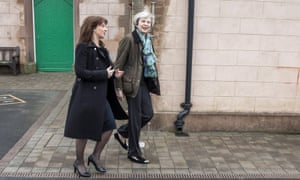 'If a word is ever said against her, by anyone, it's about trousers.' Theresa May on the campaign trail in Copeland last month.