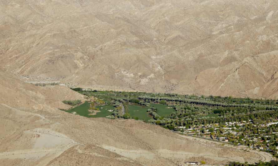 Porcupine Creek Golf Club borders the desert in Rancho Mirage, California