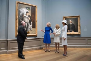 The First Ladies gets a guided tour of the artwork at the National Gallery of Art