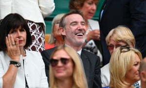 Adam Crozier in the royal box at the Wimbledon tennis championships