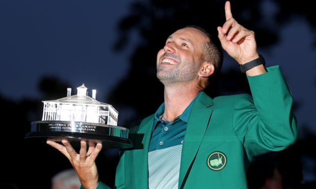 Sergio with Green Jacket and trophy