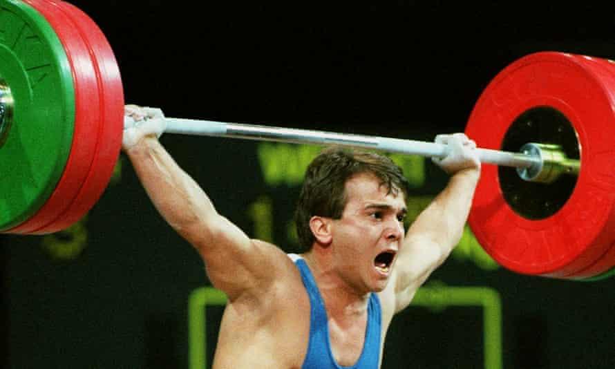 Naim Süleymanoğlu, nicknamed the Pocket Hercules, competing at the Atlanta Olympics in 1996.