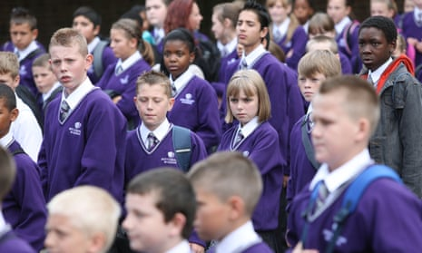 The first day of the then new Nottingham Academy in 2009