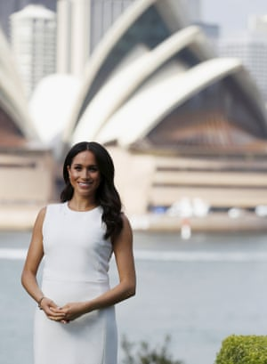 Meghan, Duchess of Sussex poses for a photo at Admiralty House in Sydney, Australia, Tuesday, Oct. 16, 2018.