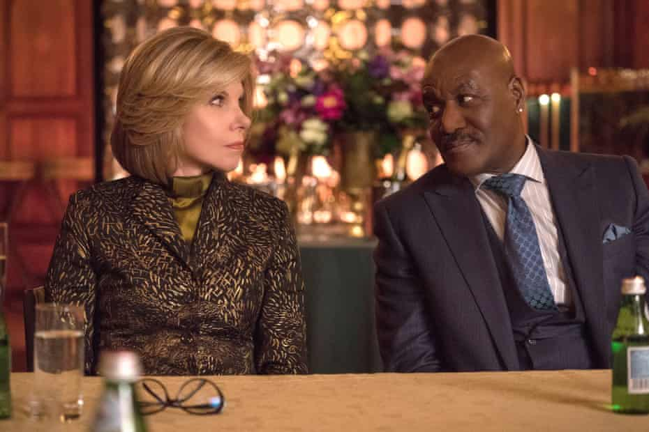 Christine Baranski and Delroy Lindo in The Good Fight
