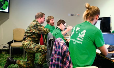 Photograph of the green team at Locked Shields.