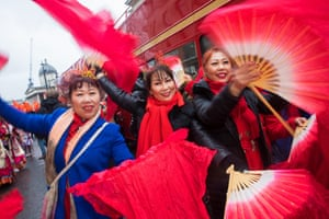 Women waving fans