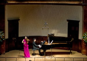 Esther Yoo on violin and Yekwon Sunwoo on piano, perform at Wigmore Hall in London.