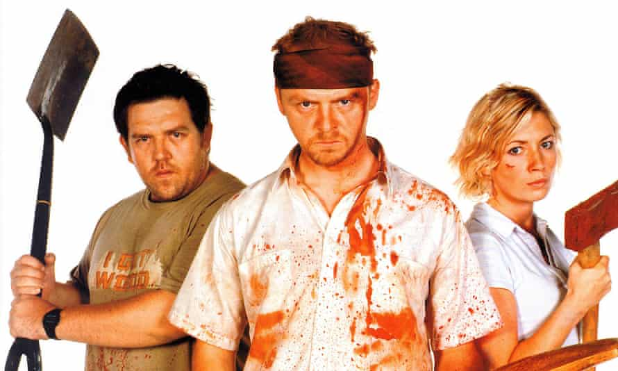 Back from the dead: Shaun of the Dead (2004) with Frost, Pegg and Kate Ashfield.