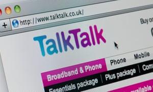 Close up of the TalkTalk logo as seen on its website