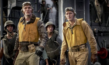 Victory for the underdogs … Ed Skrein and Luke Kleintank in Midway.
