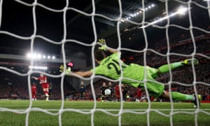James Miller at Liverpool scored his second goal of the penalty shootout.