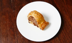 'A disappointment in a heavy pastry overcoat': homemade sausage roll.